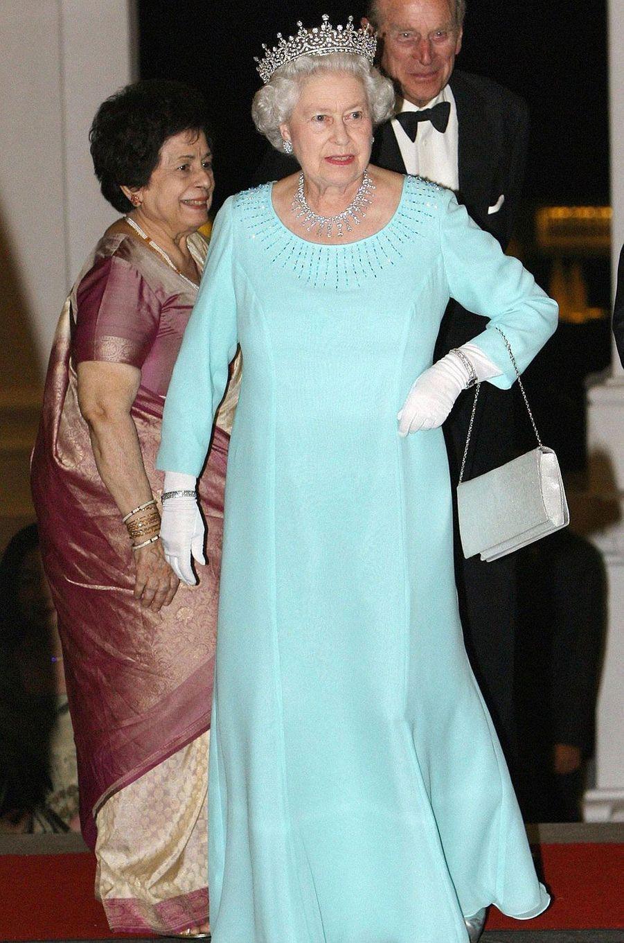 LA reine Elizabeth II en voyage officiel à Singapour