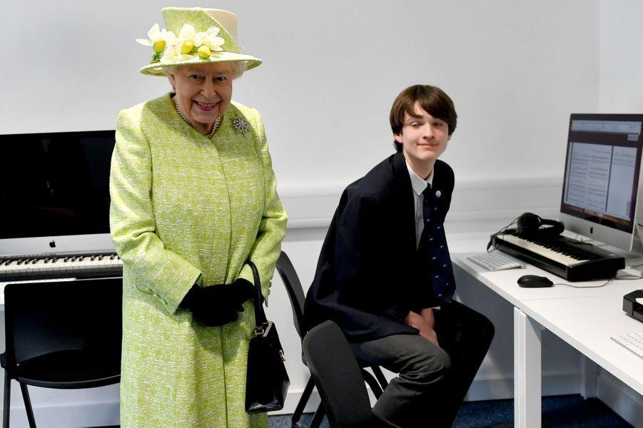 La reine Elizabeth II à Bruton dans le Somerset, le 28 mars 2019