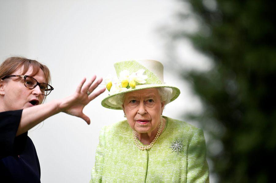 La reine Elizabeth II àBruton dans le Somerset, le 28 mars 2019