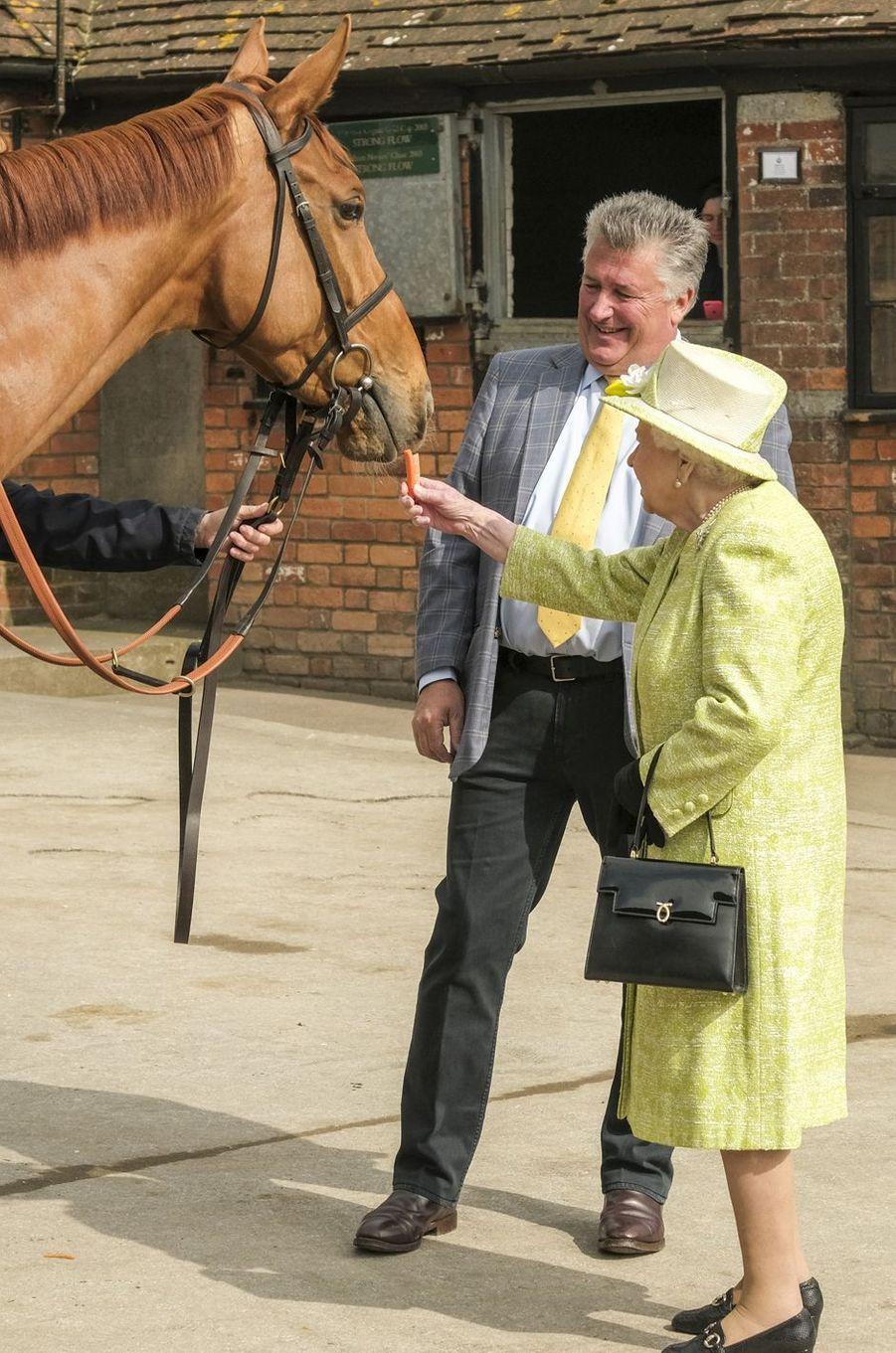 La reine Elizabeth II à Ditcheat dans le Somerset, le 28 mars 2019