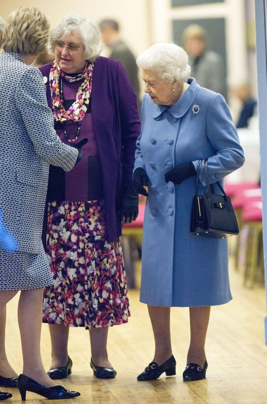 La reine Elizabeth II à une réunion de WI à West Newton, le 24 janvier 2019