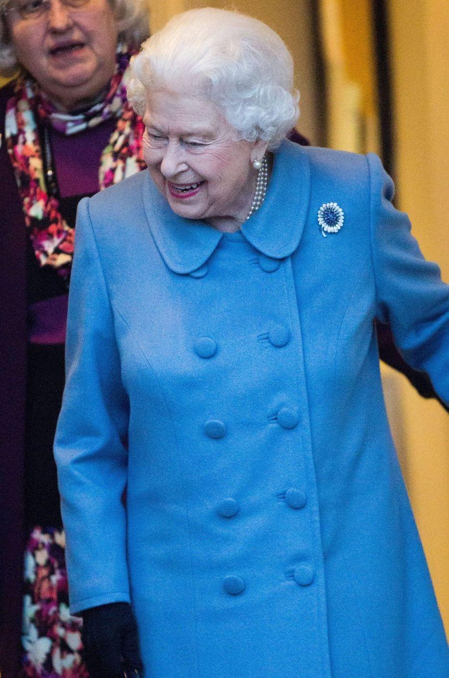 La reine Elizabeth II à West Newton, le 24 janvier 2019