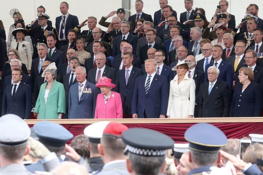 La reine Elizabeth II lors de la cérémonie des 75 ans du D-Day à Portsmouth, le 5 juin 2019