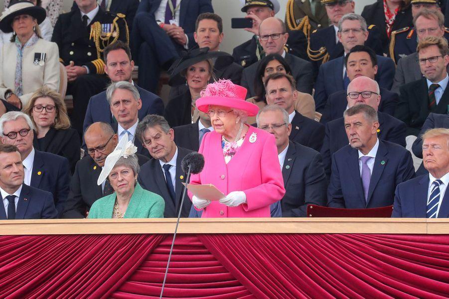 La reine Elizabeth II à Portsmouth, le 5 juin 2019
