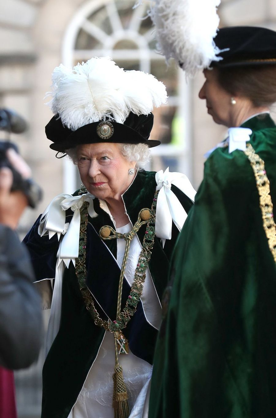 La reine Elizabeth II et la princesse Anne à Edimbourg, le 6 juillet 2018