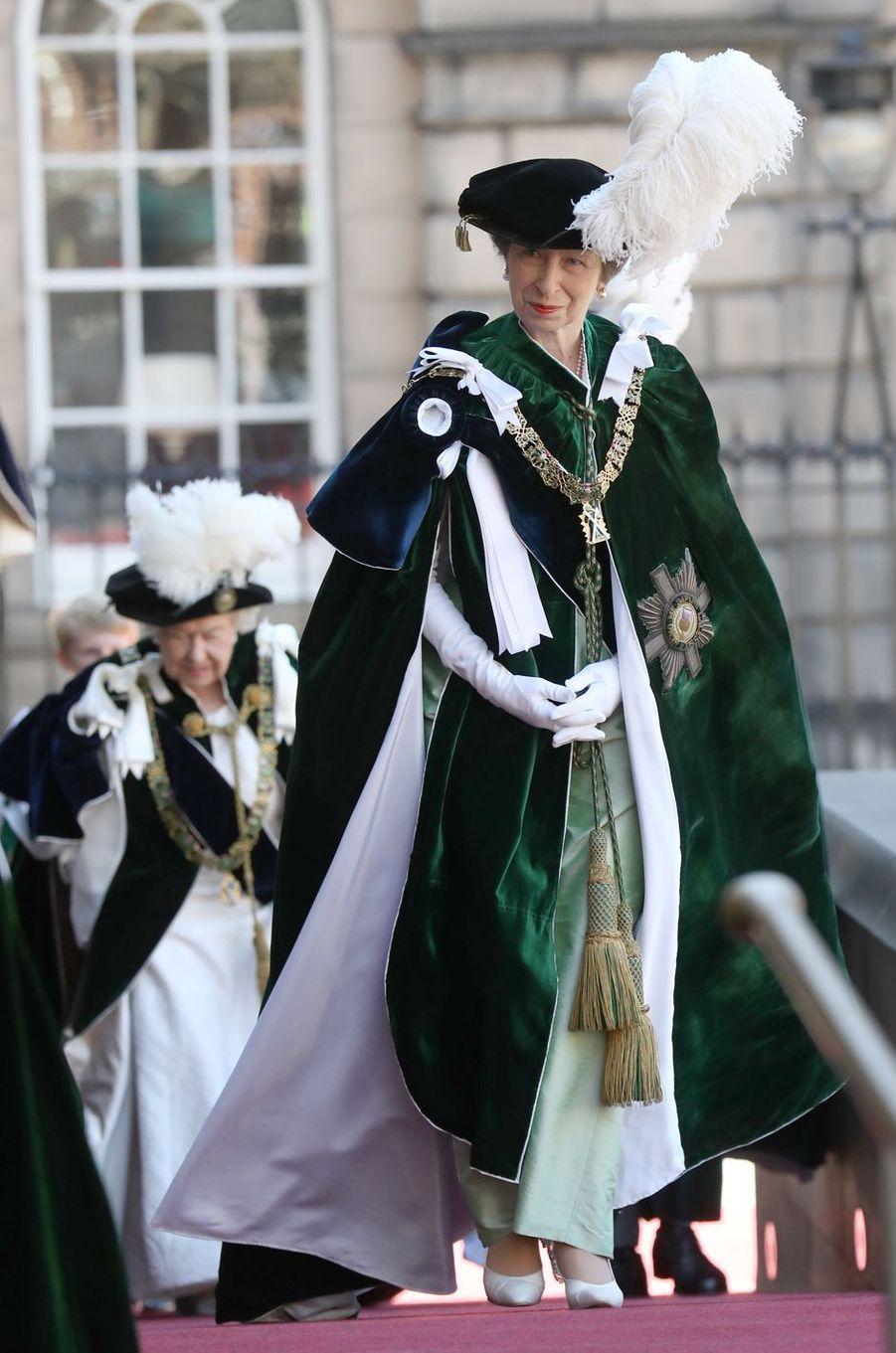 La princesse Anne et la reine Elizabeth II à Edimbourg, le 6 juillet 2018