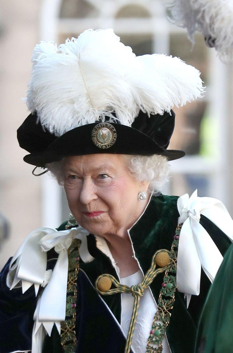 La reine Elizabeth II à Edimbourg, le 6 juillet 2018