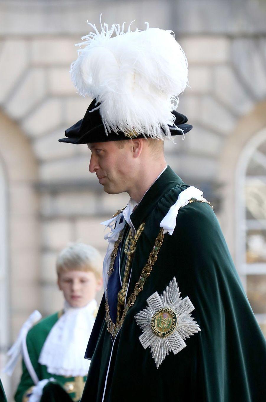 Le prince William à Edimbourg, le 6 juillet 2018