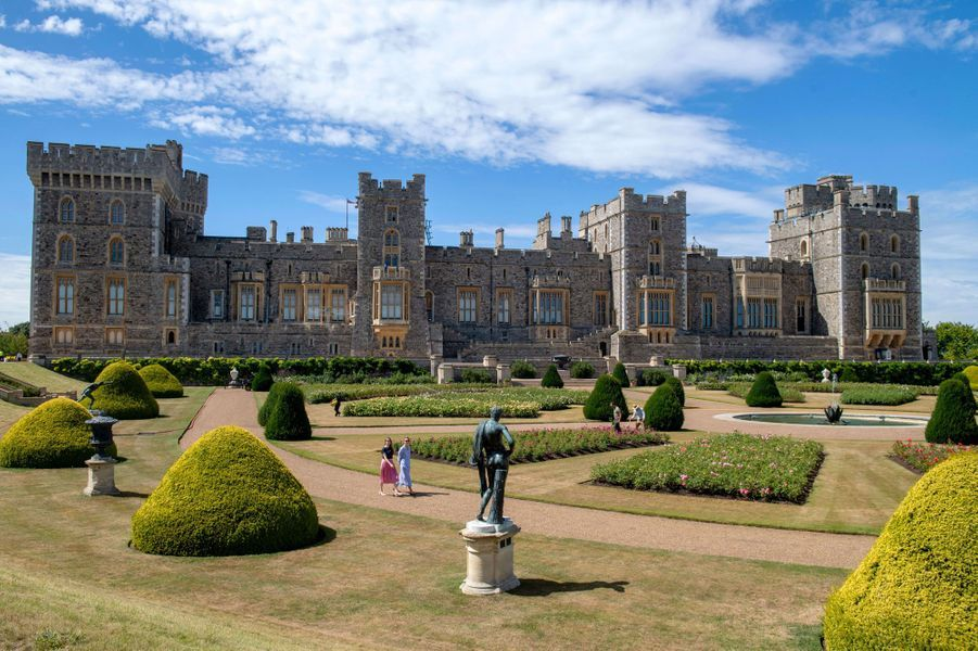Le East Terrace Garden du château de Windsor, le 5 août 2020