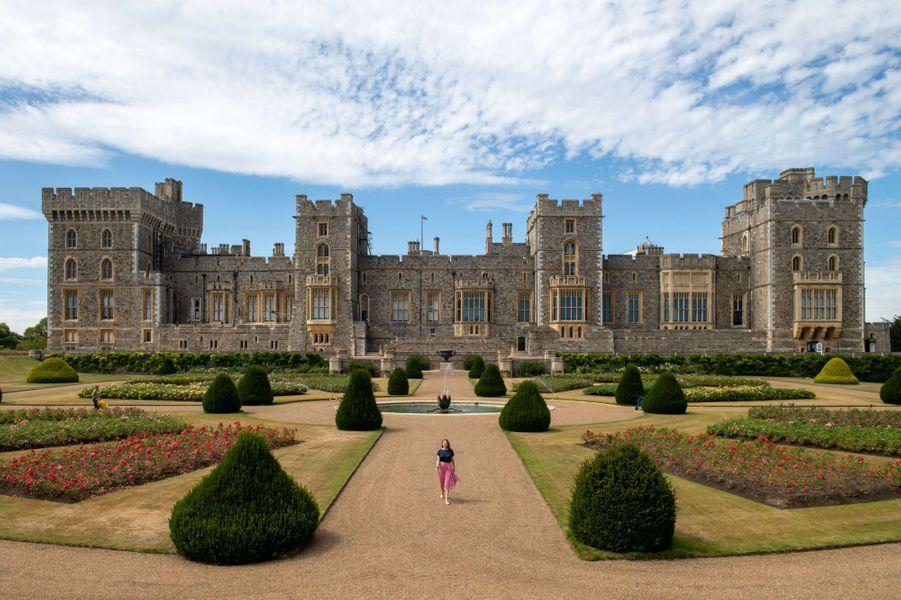 Le Jardin de la terrasse est du château de Windsor, le 5 août 2020