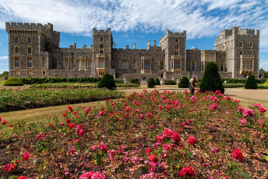 Le East Terrace Garden du château de Windsor, photographié le 5 août 2020