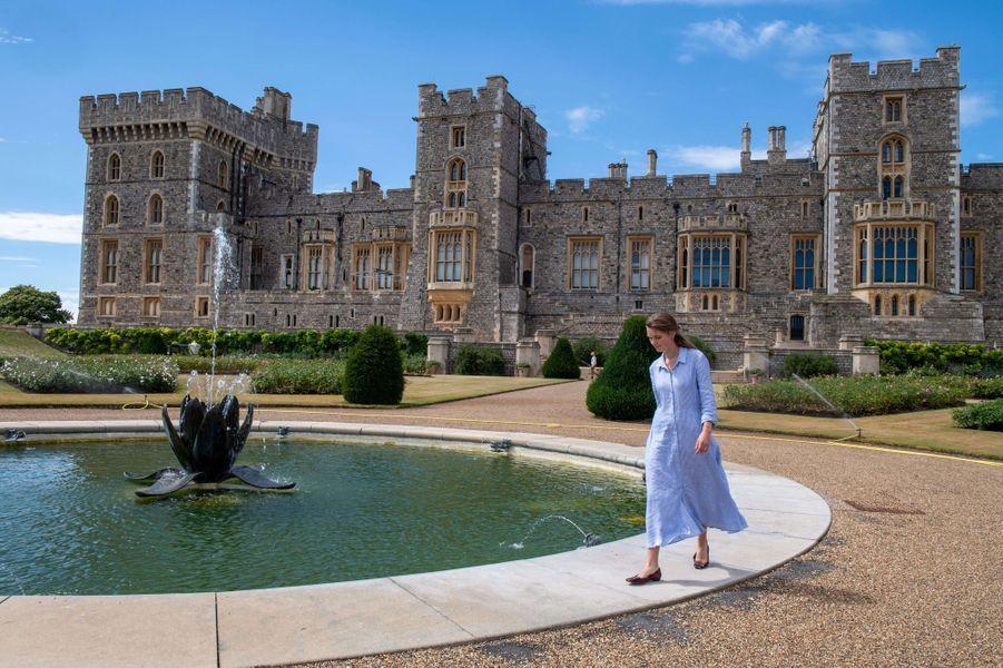 Le bassin du Jardin de la terrasse est du château de Windsor, le 5 août 2020