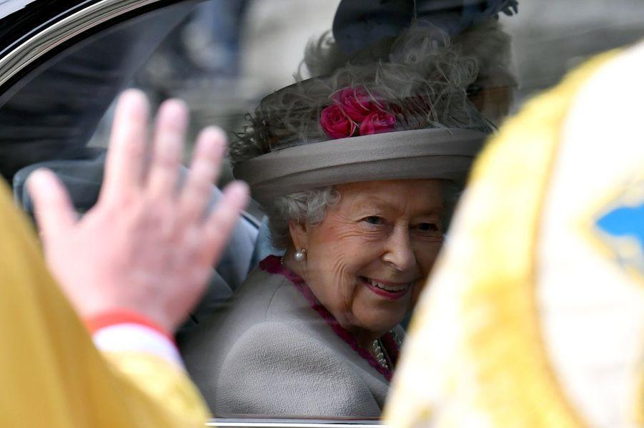 La reine Elizabeth II à Londres, le 15 octobre 2019