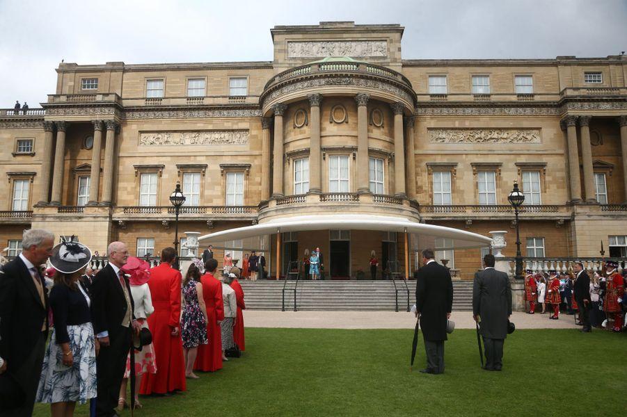 La reine Eilzabeth II, le prince William, la princesse Eugenie d'York et le duc et la duchesse de Gloucester à Londres, le 31 mai 2018