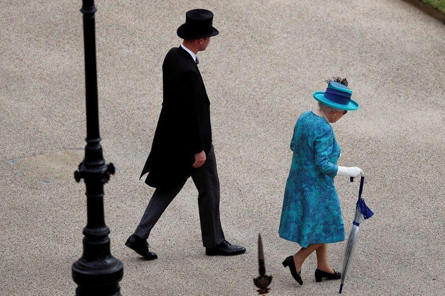 La reine Elizabeth II et le prince William à Londres, le 31 mai 2018