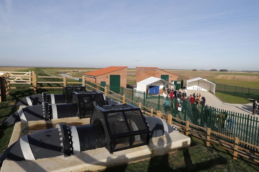 La station de pompage de Wolferton sur le domaine de Sandringham, le 5 février 2020