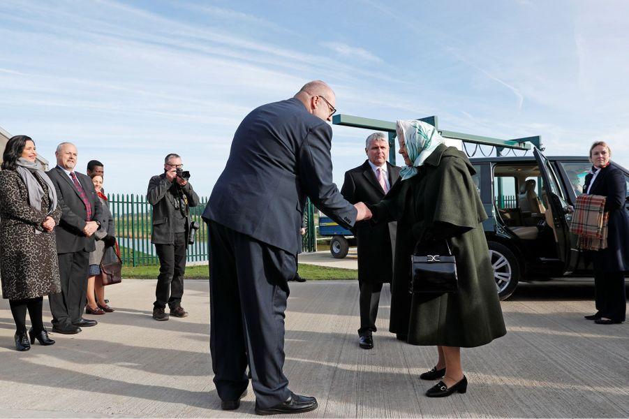 La reine Elizabeth II à la station de pompage de Wolferton sur son domaine de Sandringham, le 5 février 2020