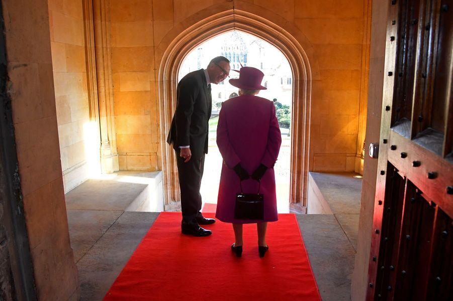 La reine Elizabeth II à Londres, le 13 décembre 2018