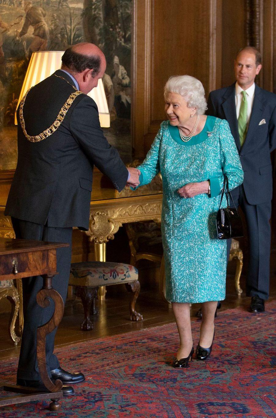 La reine Elizabeth II et le prince Edward à Edimbourg, le 3 juillet 2018
