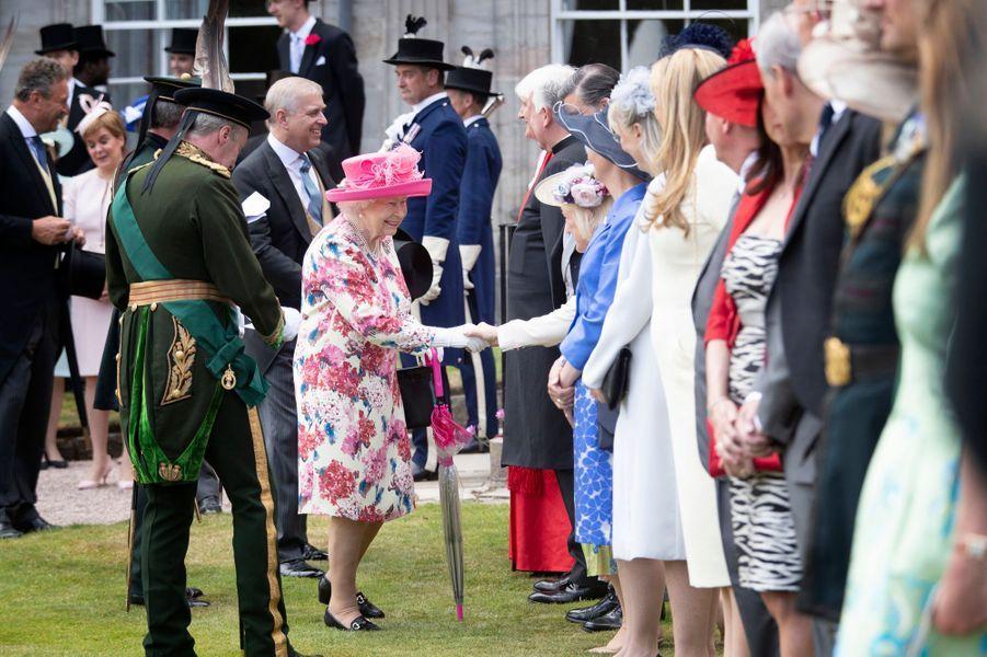 La reine Elizabeth II à Edimbourg, le 4 juillet 2018