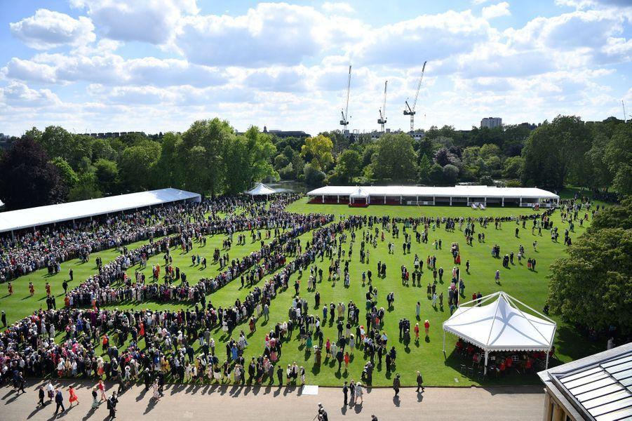 Garden party à Buckingham Palace à Londres, le 21 mai 2019