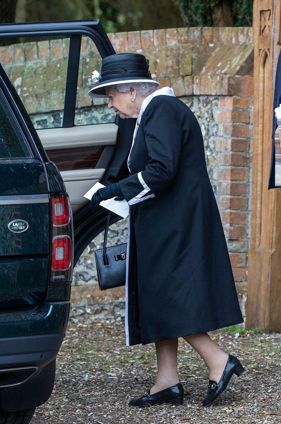 La reine Elizabeth II à Highclere, le 25 avril 2019