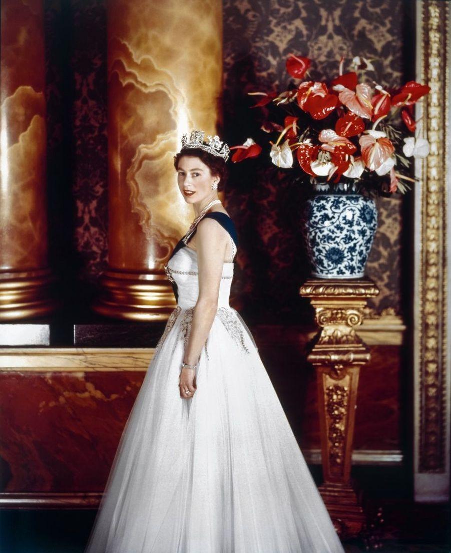 Portrait officiel à Buckingham Palace, 1955