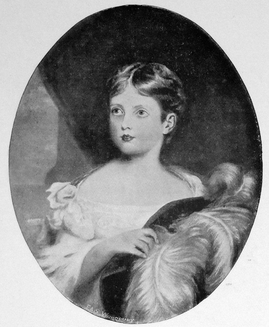 Portrait de la princesse Victoria, autour de 8 ans