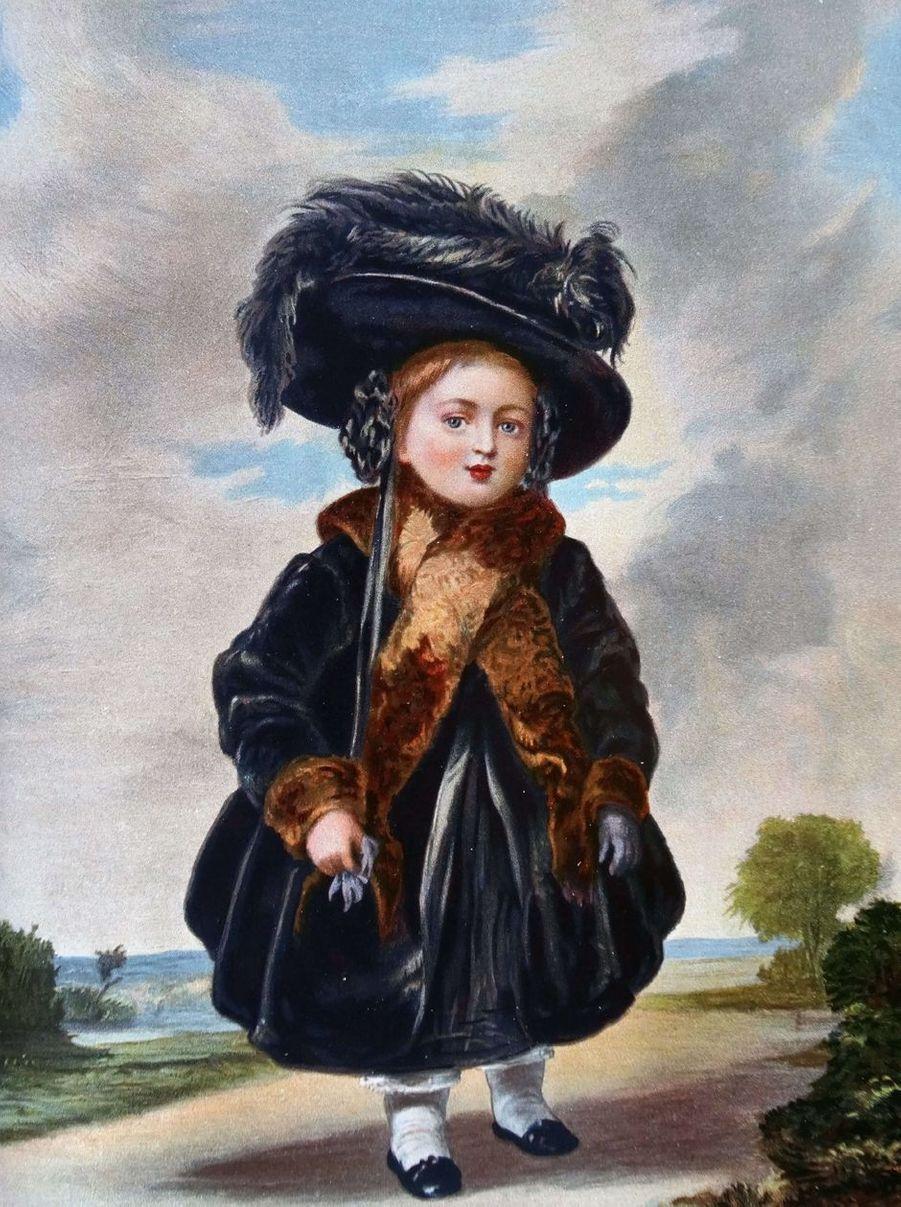 Portrait de la princesse Victoria en 1823, à 4 ans, par Stephen Poyntz Denning