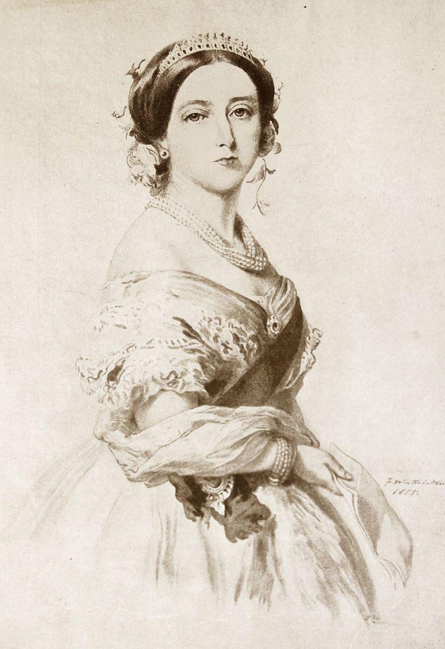 Portrait de la reine Victoria, en 1855