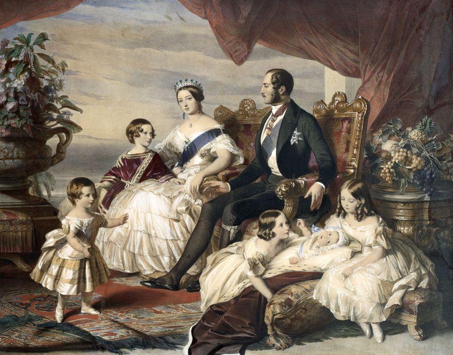 La reine Victoria, le prince Albert avec cinq de leurs enfants, parFranz Xaver Winterhalter