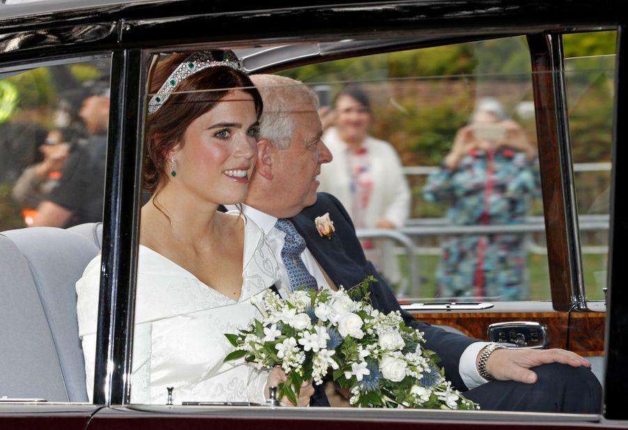 La robe de mariée de la princesse Eugenie d'York en photos