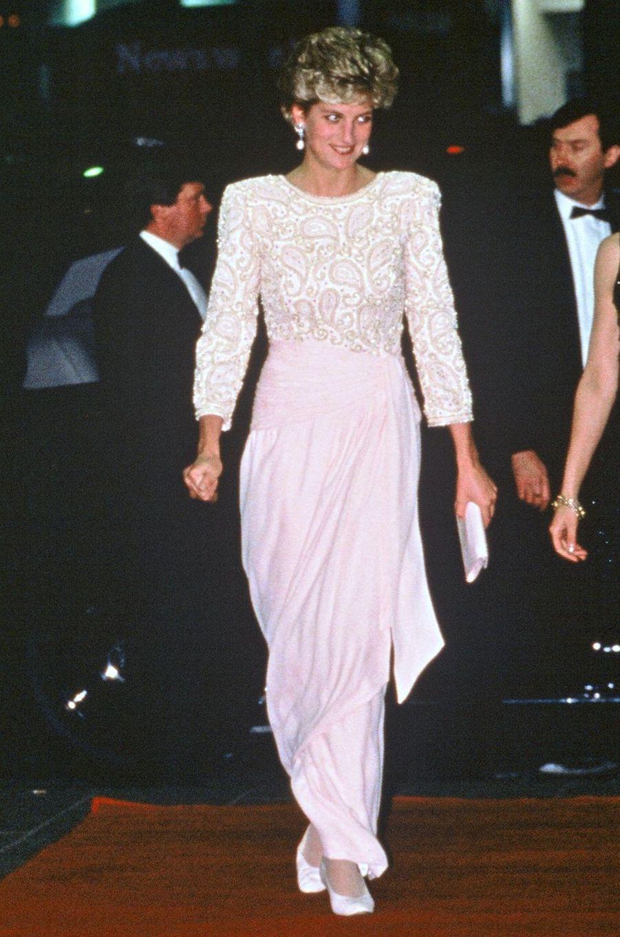 Lady Diana le 9 décembre 1992