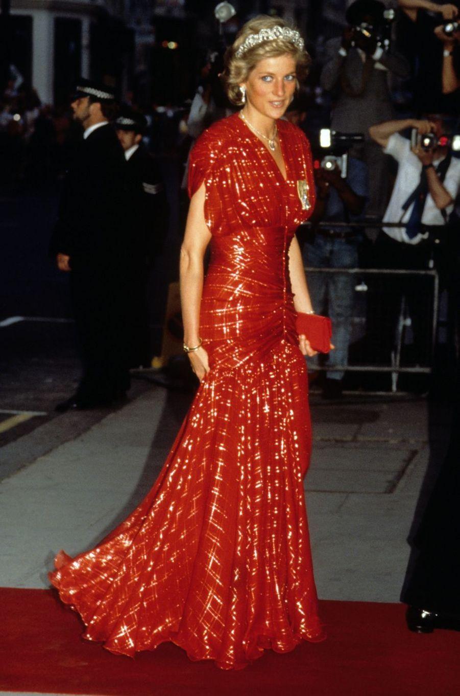 Lady Diana le 1er janvier 1992