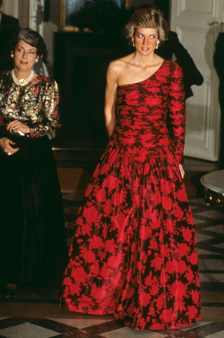 Lady Diana le 1er octobre 1988