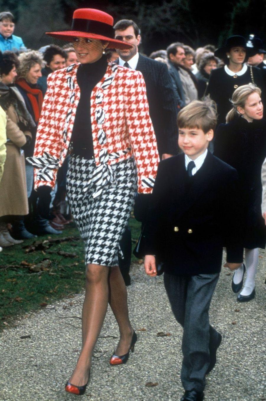 Lady Diana le 23 décembre 1990