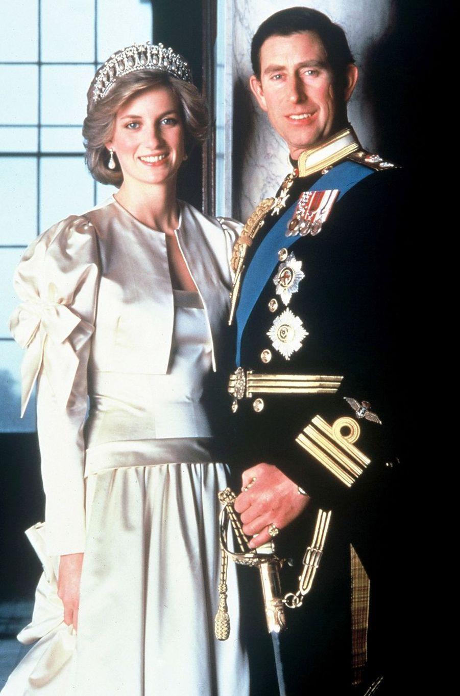 Lady Diana avec le prince Charles en 1985