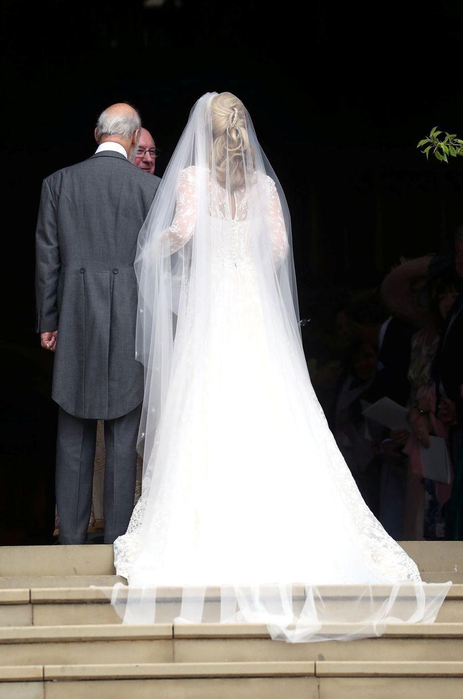 Lady Gabriella Windsor avec son père le prince Michael de Kent à Windsor, le 18 mai 2019