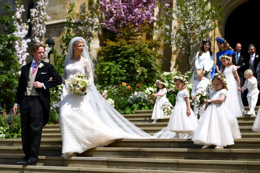 Lady Gabriella Windsor et Thomas Kingston le jour de leur mariage à Windsor, le 18 mai 2019