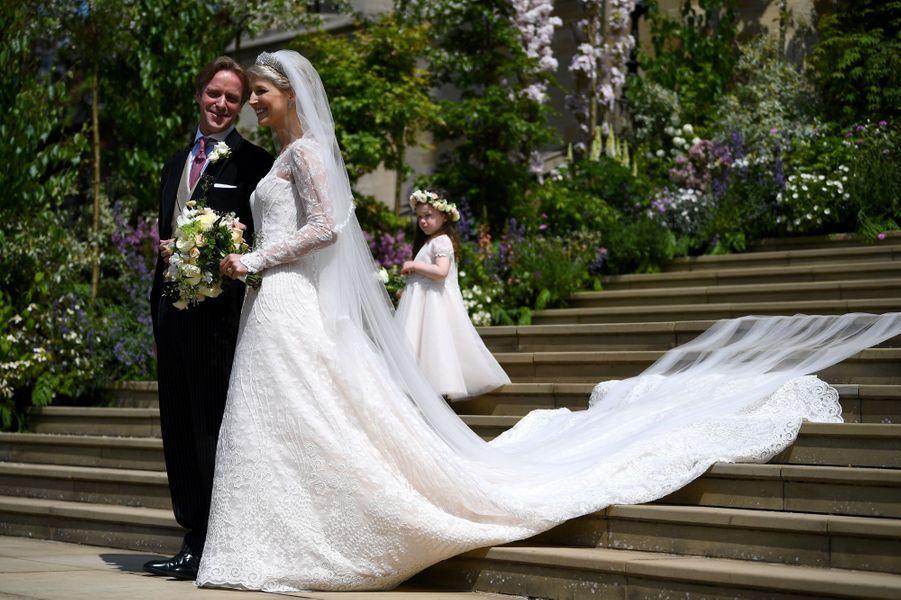 La robe de mariée de Lady Gabriella Windsor à Windsor, le 18 mai 2019