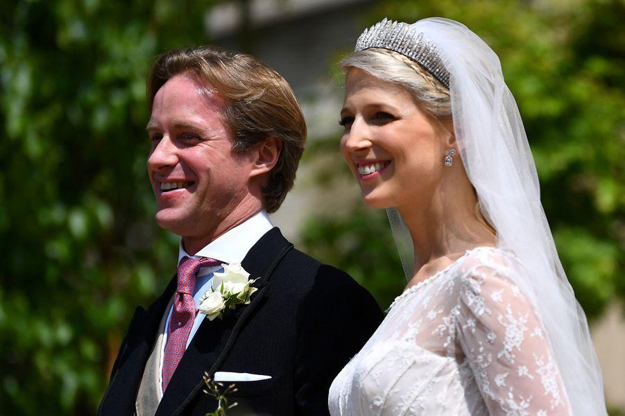 Le diadème de Lady Gabriella Windsor le jour de son mariage à Windsor, le 18 mai 2019