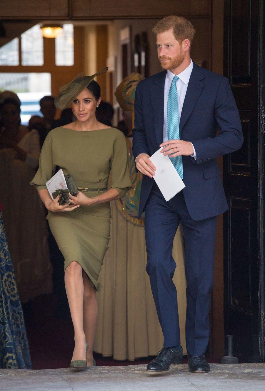 Harry et Meghan au baptême du Prince Louis