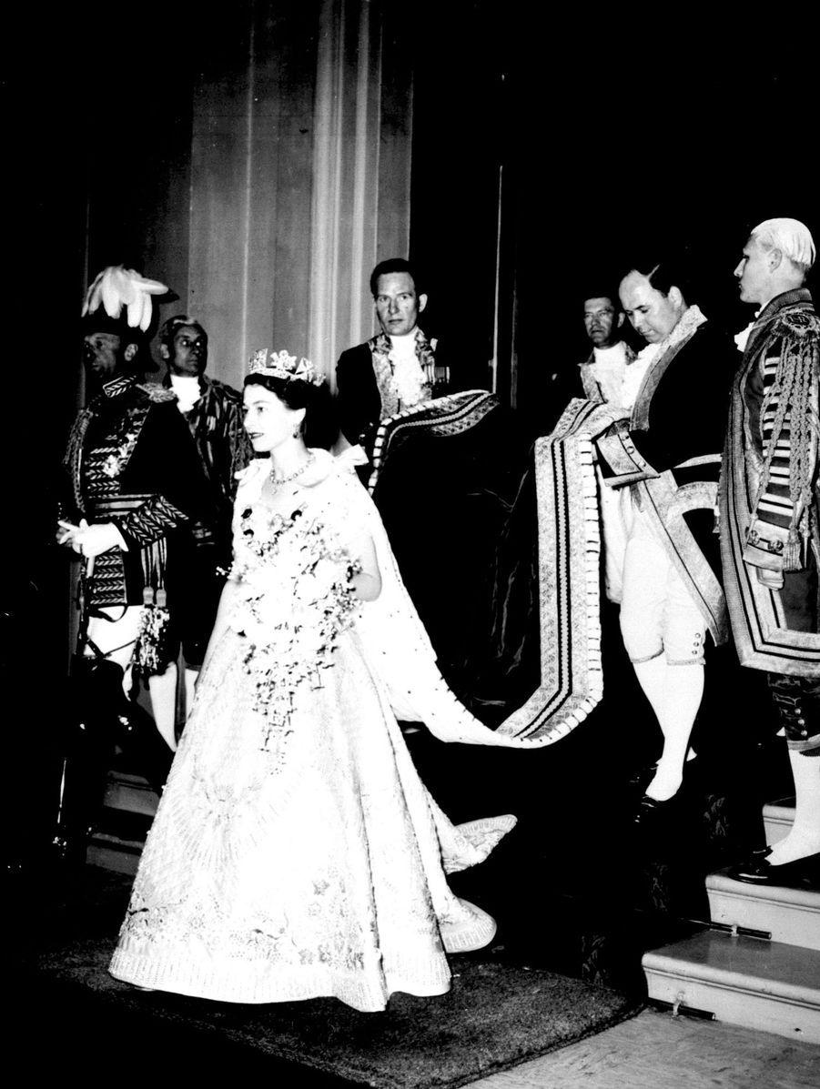 Le bouquet de la reine Elizabeth II, le jour de son couronnement, le 2 juin 1953