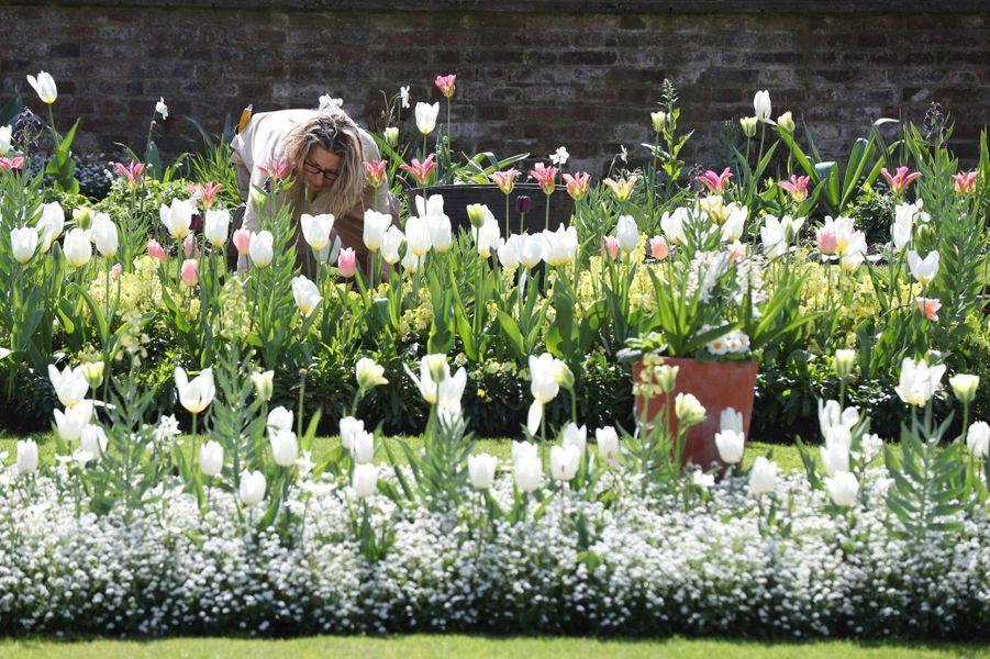 Le Jardin blanc en mémoire de Lady Diana à Londres en avril 2017