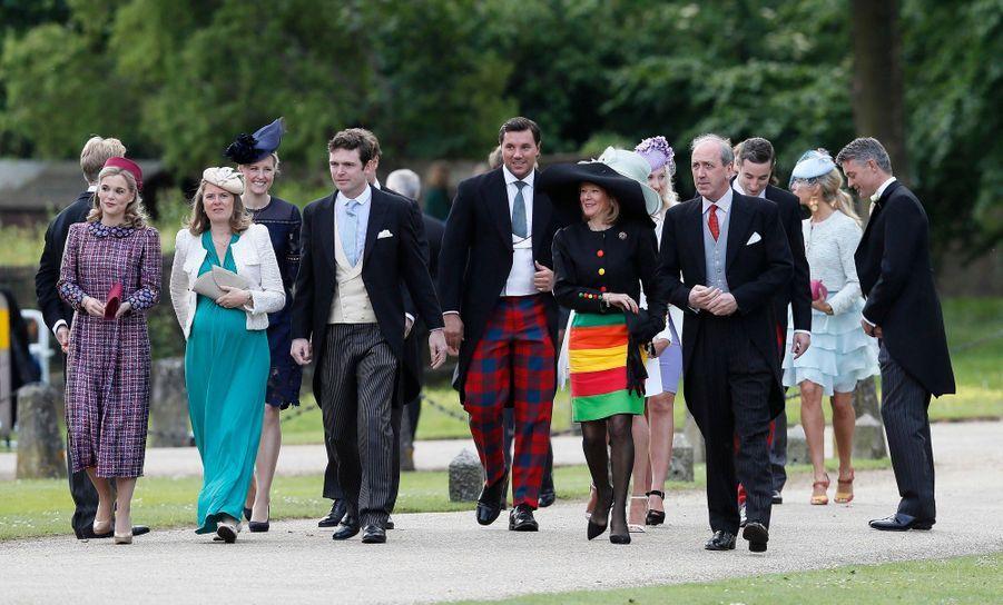 Les invités arriventau mariage de Pippa Middleton, samedi 20 mai