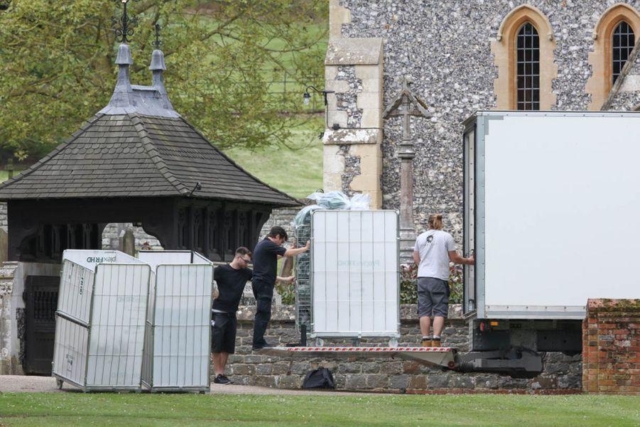 Derniers préparatifs pour le mariage de Pippa Middleton, vendredi 19 mai