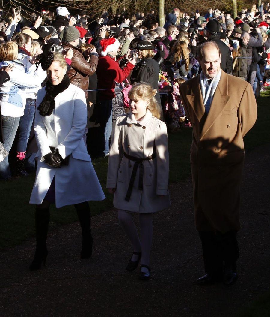 La princesse Sophie, sa fille Louise, et le prince Edward de Wessex