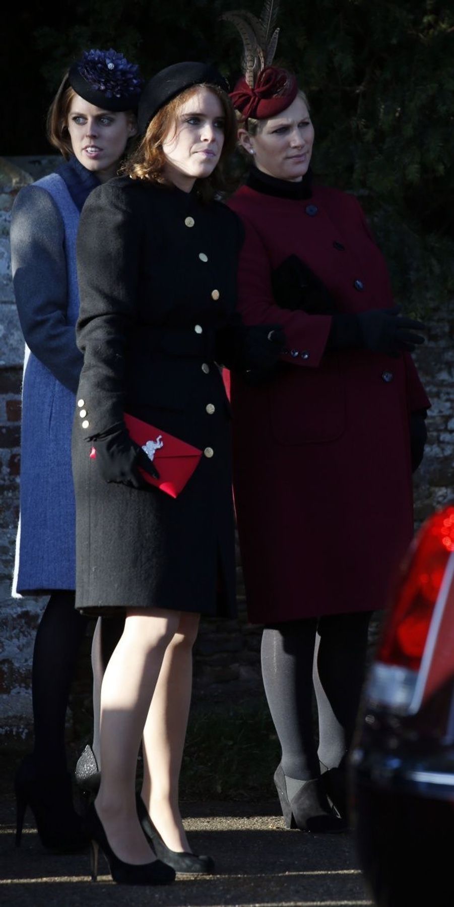 Zara Phillips avec les princesses Eugenie et Beatrice