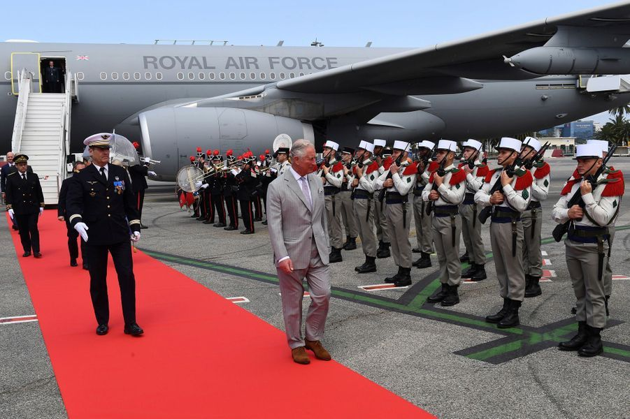 Le prince Charles à Nice, le 7 mai 2018