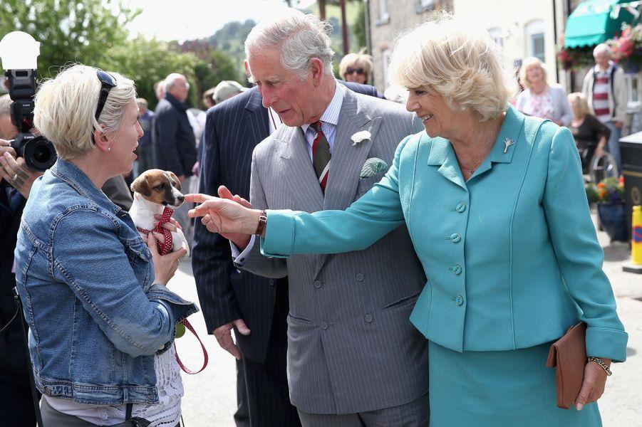 La duchesse de Cornouailles Camilla à Llanarmon yn Ial, le 7 juillet 2015